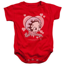 Boop/Baby Heart Infant Snapsuit in Red