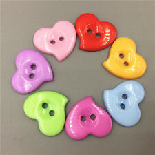 20/50/100 Mixed Colors Heart-shape Resin Button Sewing craft Scrapbooking 23mm