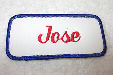 JOSE USED EMBROIDERED VINTAGE SEW ON NAME PATCH TAGS ASSORTED COLORS AVAILABLE