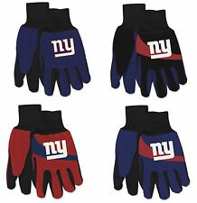 NFL New York Giants No Slip Gripper Utility Work Gardening Gloves NEW!
