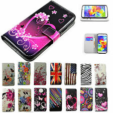 Premium Flip PU Leather Fold Wallet Holster Case Cover Skin For Samsung Galaxy