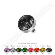 Glitter Dome Internally Threaded Dermal Anchor Top