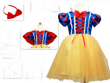 Halloween Kids Girl Snow White Princess Fancy Dress Costume Cosplay Party Disney