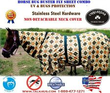 Horse Bug Mosquito Fly Sheet Summer Spring Airflow Mesh UV Neck 73134