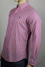 Ralph Lauren Pink Blue Striped Classic Dress Shirt Navy Pony NWT