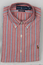 Ralph Lauren Red Blue Classic Oxford Dress Shirt Multi Color Pony NWT