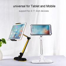 360 Rotate Desk Holder Stand with Dual Suction Cup Base Long Arm for PC/Mobile