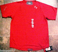 NWT Under Armour Mens Heat Gear Running Red Shirt Sizes S & M