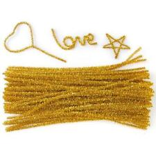 """6mm x 12"""" Glittery Pipe Cleaners Chenille Sparkle Stems Kids Craft Party Favours"""