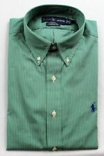 Ralph Lauren Green White Stripe Classic Fit Dress Shirt NWT