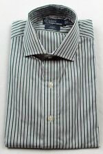Polo Ralph Lauren White Green Blue Stripe Regent Classic Dress Shirt NWT