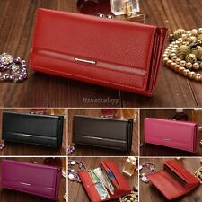 Women Lady Bifold Leather Clutch Long Purse Wallet Card Holder Case Handbag Bag