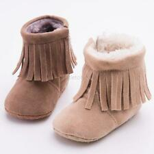 Newborn Baby Girls Tassels Soft Sole Warm Boots Infant Toddler Winter Shoes