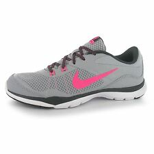 Nike Flex Trainer 5 Training Shoes Womens Grey/Pink Fitness Trainers Sneakers