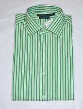 Polo Ralph Lauren White Green Striped Classic Fit Regent Shirt NWT