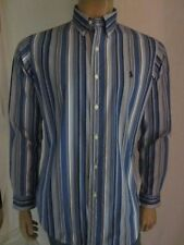 Ralph Lauren Blue White Striped Custom Dress Shirt NWT