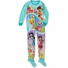 Disney Princess Tinker Bell Footed Blanket Sleeper Pajama Girl Size L 10/12