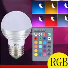 Remote Control E27 5W LED RGB Color Changing Magic Light Bulb Party Lamp Lights
