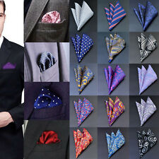 New Men Pocket Square Handkerchief Solid Floral Paisley Floral Hanky Handker Lot