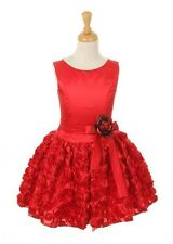 New Red Short Flower Girls Dress Party Easter Christmas Fancy Pageant 6320K