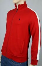 Polo Ralph Lauren Red White Full Zip Sweatshirt Track Jacket Navy Blue Pony