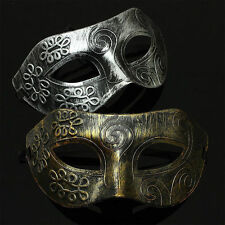 Antique Retro Silver Gold Venetian Mardi Gras Masquerade Halloween Party Mask