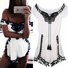 Sexy Women's Off Shoulder Clubwear Playsuit Bodycon Party Jumpsuit Romper Shorts