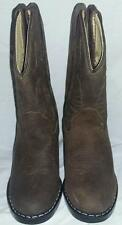 YOUTH BOYS GIRLS MASTERSON BOOTS CO WESTERN COWBOY COWGIRL BROWN SHOES 8.5