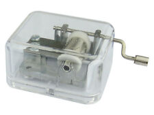 Clear Acrylic Hand Crank Music Box Musical Movement Base