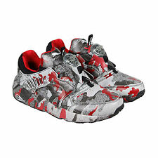Puma Disc Blaze Camo x TRAPSTAR Mens Green Textile Lace Up Sneakers Shoes