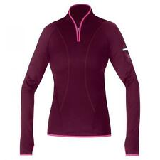 Gore Running Wear Women's Air Lady Zip Running Shirt: Shiraz Red/Hot Pink