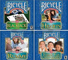 BICYCLE Brand CARD GAMES Windows PC XP Vista 7 8 10 FACTORY SEALED New