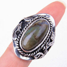 HANDMADE 925 Sterling Silver Perfect Brown Agate Gemstone Ring Size 10 M1696