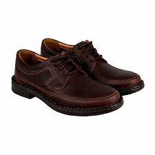 Clarks Kyros Edge Mens Brown Leather Casual Dress Lace Up Oxfords Shoes