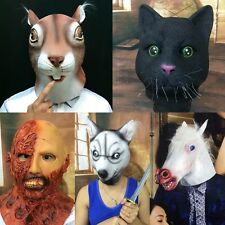 Funny Animal Zombie Head Mask Cosplay Halloween Costume Comedy Theater Prop Gift