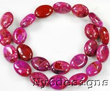 "18x13mm Purple Crazy Lace Agate Oval Beads 15""(4020)"