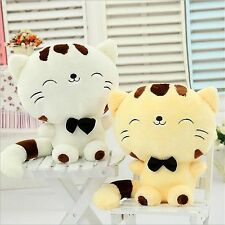 12'' Cute  Cat Face Soft Plush Stuffed  Toy Fortune  Cat Doll Kids Birthday Gift