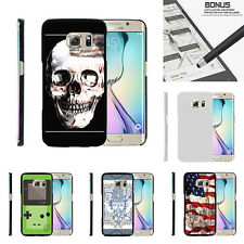 For Samsung Galaxy S6 Edge G925 Case Hard Snap On 2 Piece Slim Shell USA Skull