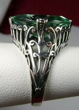 7ct Marquise *Aquamarine* Sterling Silver Art Deco Filigree Ring Size: Any/MTO