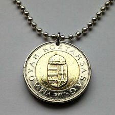 Hungary 100 forint coin pendant Hungarian necklace holy Crown Budapest n001327