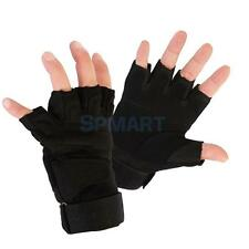 Outdoor Military Tactical Hunting Climbing Cycling Gloves Half Finger - Black