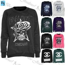 Womens Jumper Ladies Sweatshirt Fallout Boy Chicago Fleece Knitted Sweater Top