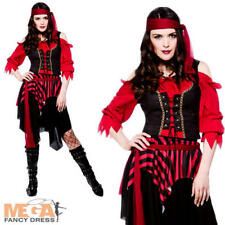 Shipwrecked Pirate Ladies Halloween Fancy Dress Caribbean Womens Costume Outfit