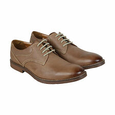Clarks Verner Plain Mens Brown Leather Casual Dress Lace Up Oxfords Shoes