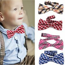 Children Kids Boys Toddler Infant Tartan Bowtie Pre Tied Wedding Bow Tie Necktie