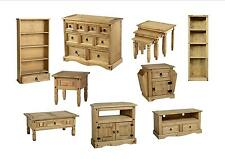 Seconique Corona Living Room - Solid Mexican Pine Table, TV, Unit/Cabinet