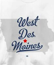West Des Moines, Polk County, Iowa IA MAP Souvenir T Shirt All Sizes & Colors