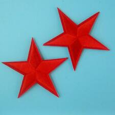 2 Star Iron on Sew Embroidered Badge Patch Sewing Dallas Cowboy Rock Biker Punk.