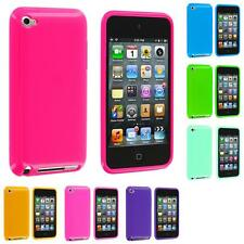 Color Solid Jelly Gel TPU Rubber Skin Case Cover for iPod Touch 4th Gen 4G 4