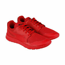 Puma Duplex Evo Graphic Mens Red Mesh Lace Up Sneakers Shoes